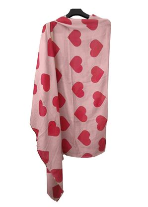 Picture of Pink Scarf Red Heart Print