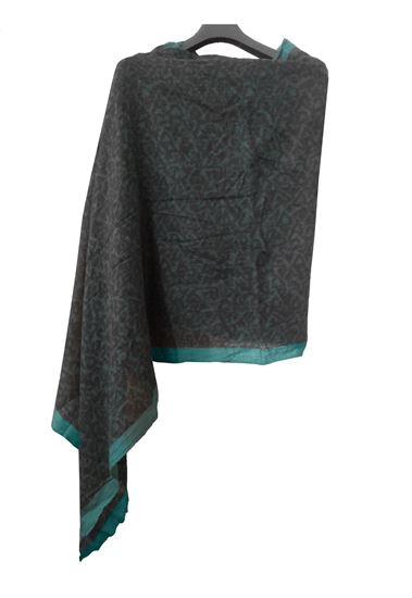 Picture of Hogaz Blue Soft Wool Scarf