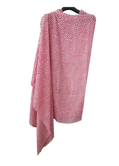 Picture of Hogaz Wool Scarf Red Little Hearts Print