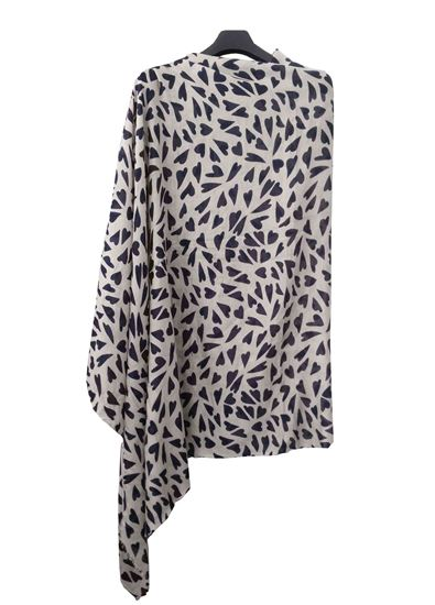 Picture of Soft Wool Scarf Print Blue Heart