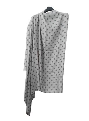 Picture of Wool Gray Scarf Polka Dot
