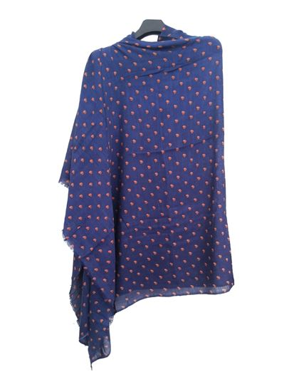 Picture of Wool Blue Scarf Little Hearts