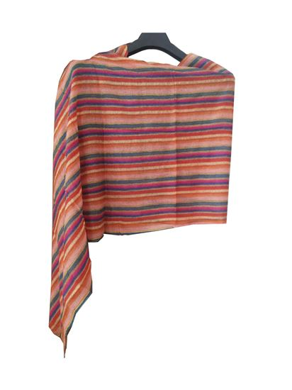 Picture of Wool Scarf Multi Colour Striped