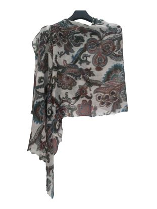 Picture of Wool Scarf White Colour Floral