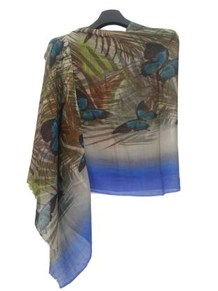 Picture of Wool Scarf Multi Colour Butterfly