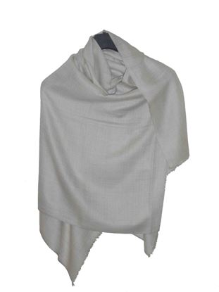 Picture of Hogaz Merino Wool Scarf Natural Colour