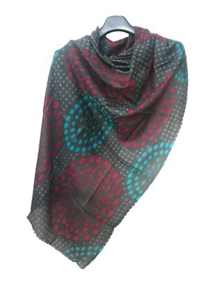 Picture of Wool Scarf Multi Colour Print