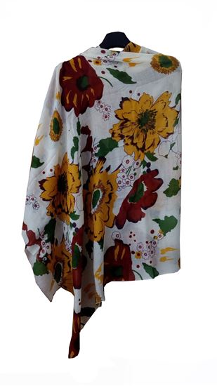 Picture of Hogaz Wool Scarf Multi Colour Floral
