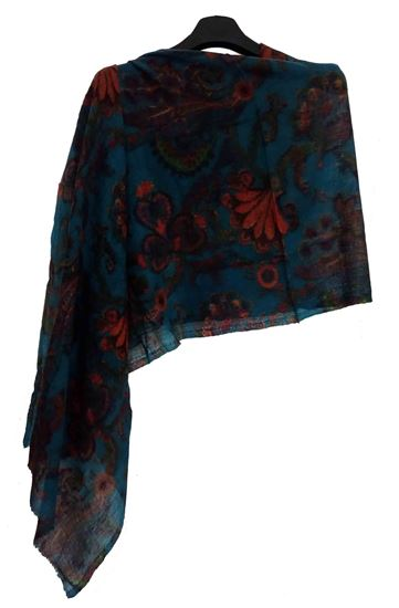 Picture of Wool Scarf Multi Colour Floral